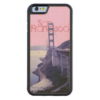 ゴールデンゲートブリッジサンフランシスコ CarvedメープルiPhone 6バンパーケース
