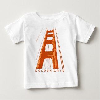 ゴールデンゲートブリッジタワー-オレンジ ベビーTシャツ