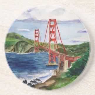 ゴールデンゲートブリッジ(サンフランシスコ)の飲み物のコースター コースター
