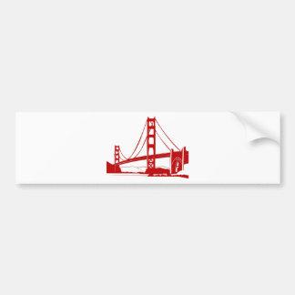 ゴールデンゲートブリッジ-サンフランシスコ、カリフォルニア バンパーステッカー