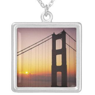 ゴールデンゲートブリッジ、サンフランシスコ、カリフォルニア、3 シルバープレートネックレス