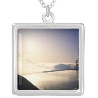 ゴールデンゲートブリッジ、サンフランシスコ、カリフォルニア、4 シルバープレートネックレス