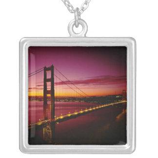 ゴールデンゲートブリッジ、サンフランシスコ、カリフォルニア、5 シルバープレートネックレス