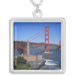 ゴールデンゲートブリッジ、サンフランシスコ、カリフォルニア、8 シルバープレートネックレス