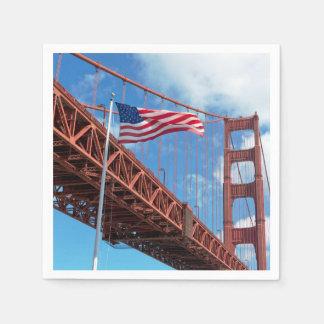 ゴールデンゲートブリッジ、サンフランシスコ スタンダードカクテルナプキン
