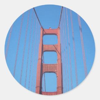 ゴールデンゲートブリッジ、サンフランシスコ-ステッカー ラウンドシール