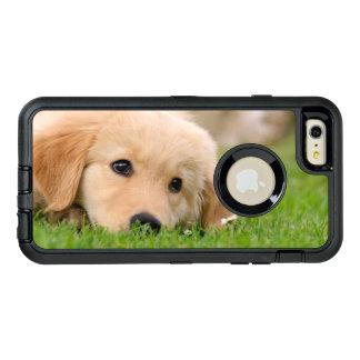 ゴールデン・リトリーバーかわいい犬の子犬の写真-保護して下さい オッターボックスディフェンダーiPhoneケース