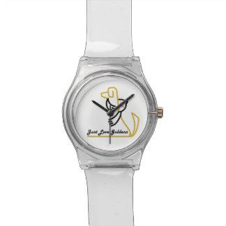 ゴールデン・リトリーバーのゆとりの腕時計、ちょうど愛Goldens 腕時計