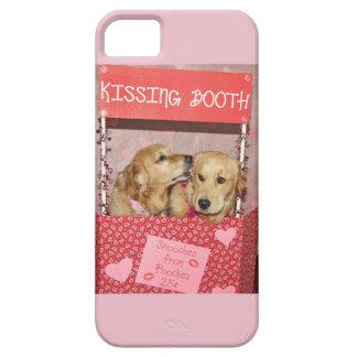 ゴールデン・リトリーバーのキスをするなブース iPhone 5 Case-Mate ケース