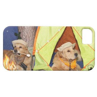 ゴールデン・リトリーバーのキャンプ iPhone 5 CASE