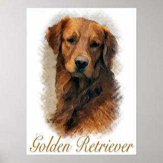 ゴールデン・リトリーバーのギフトの芸術のプリント ポスター