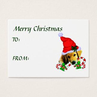 ゴールデン・リトリーバーのクリスマスのギフト 名刺