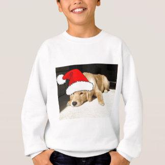 ゴールデン・リトリーバーのクリスマスの子犬 スウェットシャツ