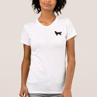 ゴールデン・リトリーバーのシルエットのワイシャツ Tシャツ