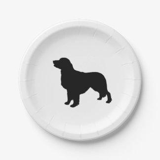 ゴールデン・リトリーバーのシルエット愛犬 ペーパープレート
