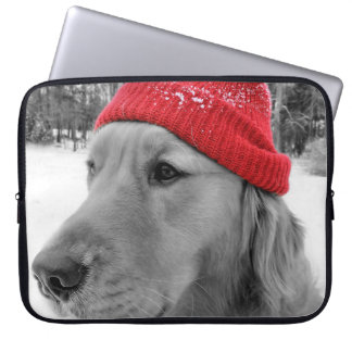 ゴールデン・リトリーバーのスキー犬 ラップトップスリーブ