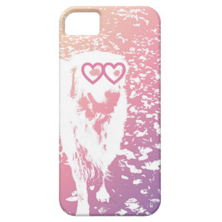 ゴールデン・リトリーバーのバレンタインのiPhone 5/5sの場合 iPhone SE/5/5s ケース
