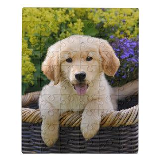 ゴールデン・リトリーバーのベビー犬の子犬おもしろいなペット写真の_- ジグソーパズル