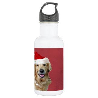 ゴールデン・リトリーバーのメリークリスマス ウォーターボトル