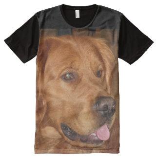ゴールデン・リトリーバーのユニセックスなTシャツ オールオーバープリントT シャツ