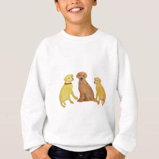 ゴールデン・リトリーバーの子供のTシャツ スウェットシャツ