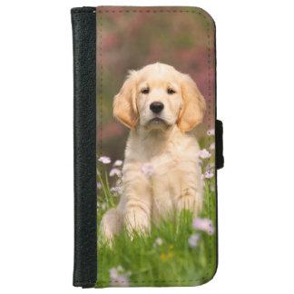 ゴールデン・リトリーバーの子犬かわいいGoldie iPhone 6/6s ウォレットケース