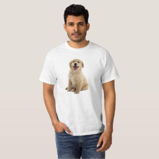 ゴールデン・リトリーバーの子犬のワイシャツ Tシャツ