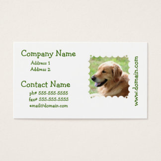ゴールデン・リトリーバーの子犬の名刺 名刺