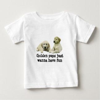 ゴールデン・リトリーバーの子犬の幼児のユニセックスなワイシャツ ベビーTシャツ