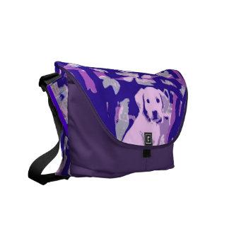 ゴールデン・リトリーバーの子犬 メッセンジャーバッグ