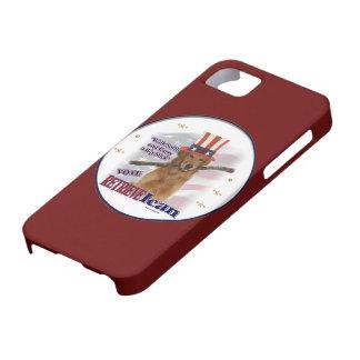 ゴールデン・リトリーバーの政治ユーモア iPhone SE/5/5s ケース