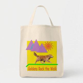 ゴールデン・リトリーバーの敏捷の「石」の食料雑貨のトート トートバッグ