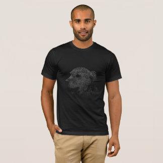 ゴールデン・リトリーバーの文字のポートレート Tシャツ