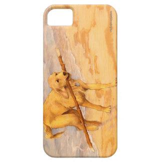 ゴールデン・リトリーバーの横の芸術の電話箱 iPhone 5 COVER