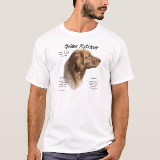ゴールデン・リトリーバーの歴史のデザイン Tシャツ