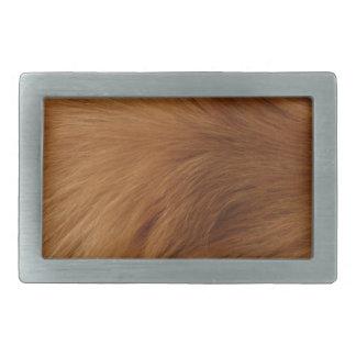 ゴールデン・リトリーバーの毛皮 長方形ベルトバックル