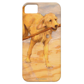 ゴールデン・リトリーバーの縦の芸術の電話箱 iPhone 5 COVER