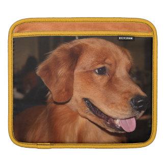 ゴールデン・リトリーバーの袖 iPadスリーブ
