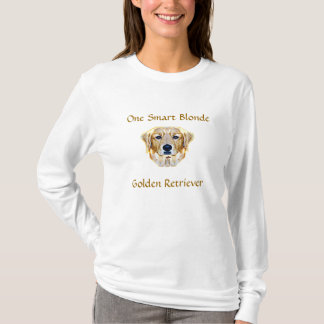 ゴールデン・リトリーバーの頭が切れるなブロンドのワイシャツ Tシャツ