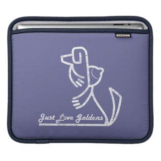 ゴールデン・リトリーバーのiPadの袖、ちょうど愛Goldens iPadスリーブ
