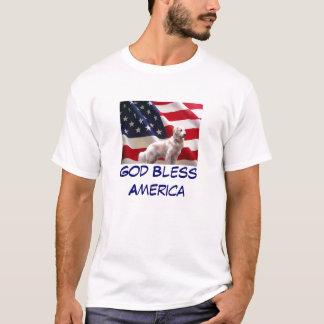 ゴールデン・リトリーバーのTodlerのTシャツアメリカ Tシャツ