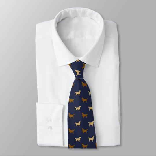 ゴールデン・リトリーバーはパターンのシルエットを描きます ネクタイ
