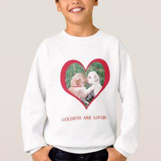ゴールデン・リトリーバーは恋人です!  バレンタインデー スウェットシャツ