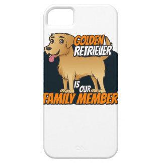 ゴールデン・リトリーバーは私達の家族です iPhone SE/5/5s ケース