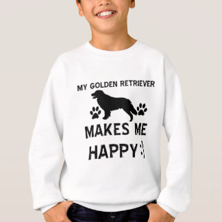 ゴールデン・リトリーバー犬のデザイン スウェットシャツ