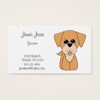 ゴールデン・リトリーバー犬のトリマーの名刺 名刺