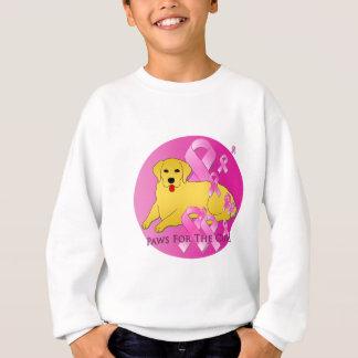 ゴールデン・リトリーバー犬のピンクのリボン スウェットシャツ