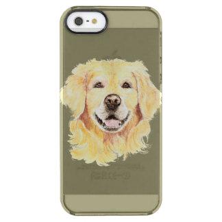 ゴールデン・リトリーバー犬のペットの水彩画 クリア iPhone SE/5/5sケース