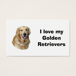 ゴールデン・リトリーバー犬の写真のポートレート 名刺