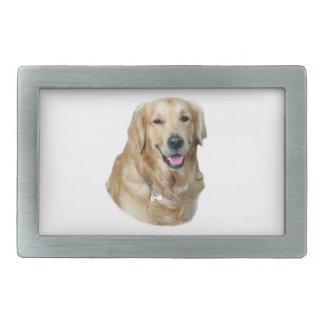 ゴールデン・リトリーバー犬の写真のポートレート 長方形ベルトバックル